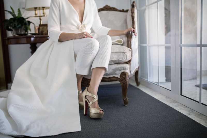 Vestidos de novia con pantalón, ¿son para ti?